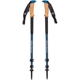 Black Diamond Alpine Carbon Cork WR Trekking Stokken, astral blue